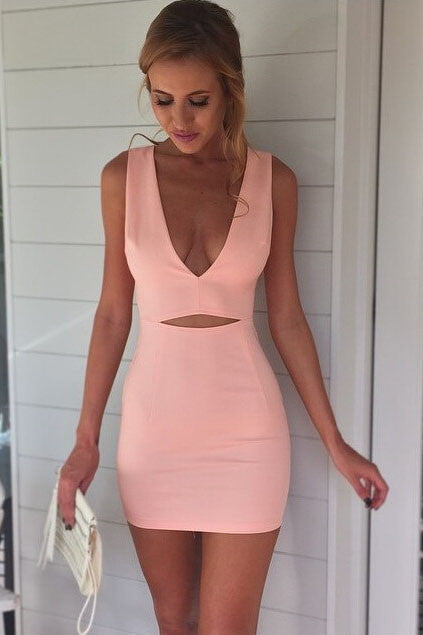 Sexy V-Neck Tight Sling Dress