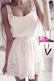 Fashion lace Solid color rompers jumpsuit
