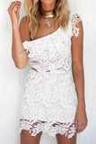 Lace Embroidery Bodycon Backless Dress