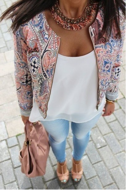 Fashion Print Long-Sleeved Cardigan Jacket