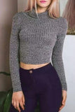 High Collar Knit Pullovers Tops Sweater
