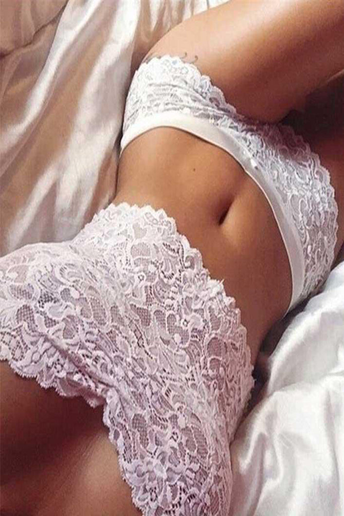 Sexy Lace Strapless Solid Color Lingerie