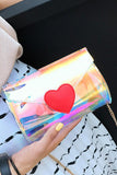Heart Laser Women Fashion Handbag Crossbody Shoulder Bag