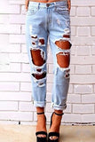 Fashion Ripped Hole Distressed Jeans