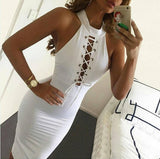 Hollow Out Strappy Bodycon Dress