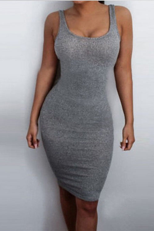 Hollow Out V-Neck Bodycon Dress
