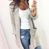 Pocket Loose Long-Sleeved Cardigan