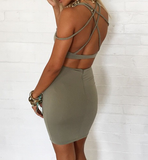 Sexy Hollow Out V-Neck Dress