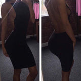 Bodycon Strap Backless Dress