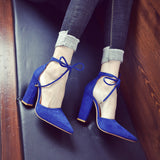 Strappy Fashion Women Pointed Toe High Heels Shoes