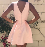 Sexy V Neck Backless A-Line Dress