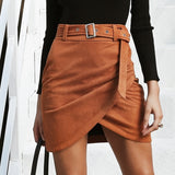 Irregular Buckle Fashion Skirt