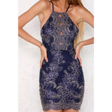 Lace Fashion Solid Color Bodycon Dress
