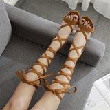 Strappy Peep Toe Fashion Women Crisscross High Heels Shoes