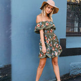 Flower Strapless Fashion Mini Dress