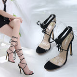 Crisscross Strappy Women Fashion Sandals High Heels Shoes