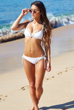 Solid Color Hollow Out Bikini Swimsuit Swimwear