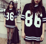 Fashion Letters Printed Round Neck Shirt