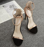 Ankle Strap Women Fashion Peep Toe High Heels Shoes
