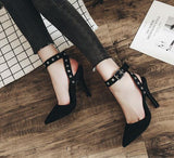 Buckle Pointed Toe Fashion Women Stiletto High Heels Shoes