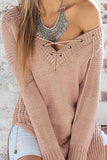 V-Neck Long Sleeve Tops Sweater