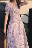 Dresses Women Print Chic Leisure Holiday Puff Sleeve Design Hipster Para Party Elegant Basic Femme Daily