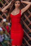 New Woman Bandage Dress Red Blue Nude Sexy Spagehetti Strap Midi Celebrity Bodycon Club Party Dress