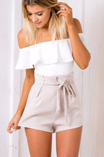 Sexy Strap Flounced Bodycon Romper Jumpsuit