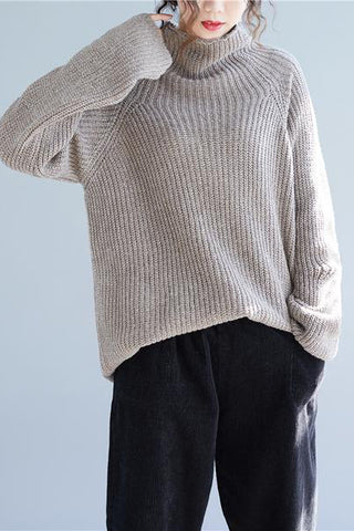 Loose Knit Long Fashion Top Sweater Pullover