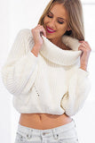 Loose High Collar Pullovers Tops Sweater
