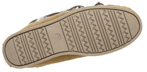 bac0eded7ea ... Ladies Cotswold Tan Brown Leather Suede Warm Lined Moccasin Slippers  Kilkenny