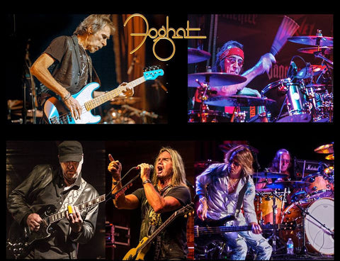 2017 Autographed Foghat commemorative 8X10 glossy photo!