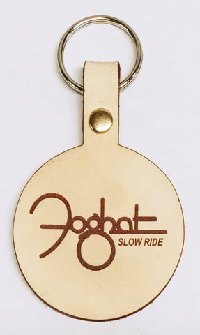 Leather Engraved Foghat Keychain