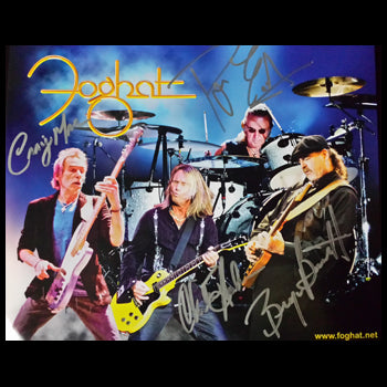2015 Autographed Foghat commemorative 8x10 glossy photo!