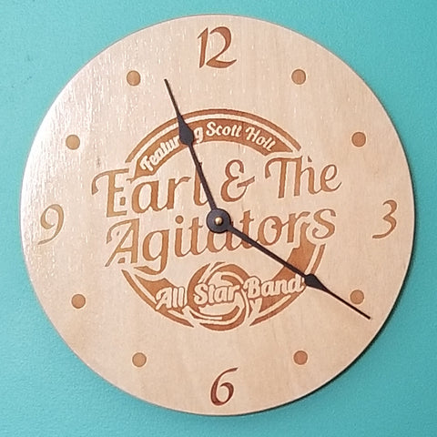 Wood Earl & the Agitators Clock
