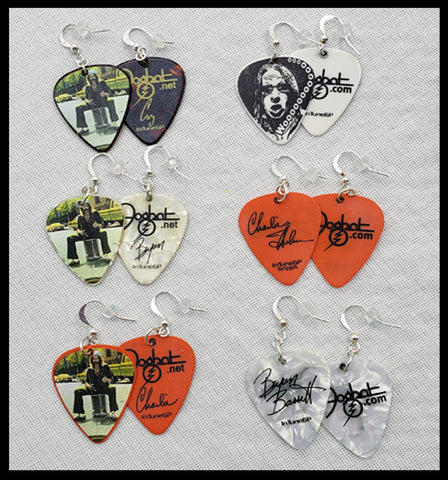 Handmade Guitar Pick Earrings