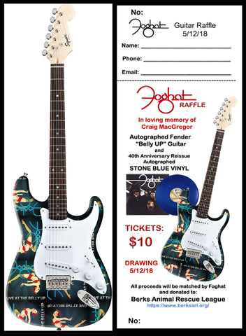 Belly Up Autographed Guitar Raffle Ticket- Drawing is on May 12th 2018