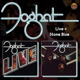 "Foghat ""LIVE"" and ""Stone Blue"" 2 albums, ONE CD!"