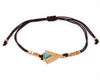 String Bracelet Turquoise triangle - Black
