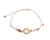 String Bracelet Golden Ring - White
