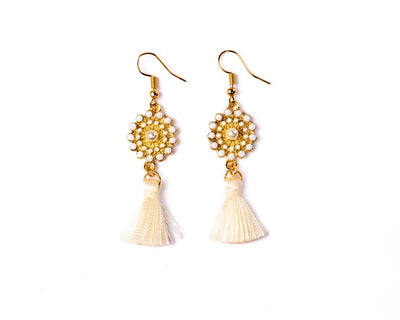 Dangle Earrings White Sand - boom-ibiza