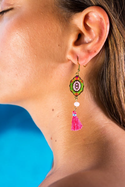 Dangle Earrings Ibiza Purple - boom-ibiza