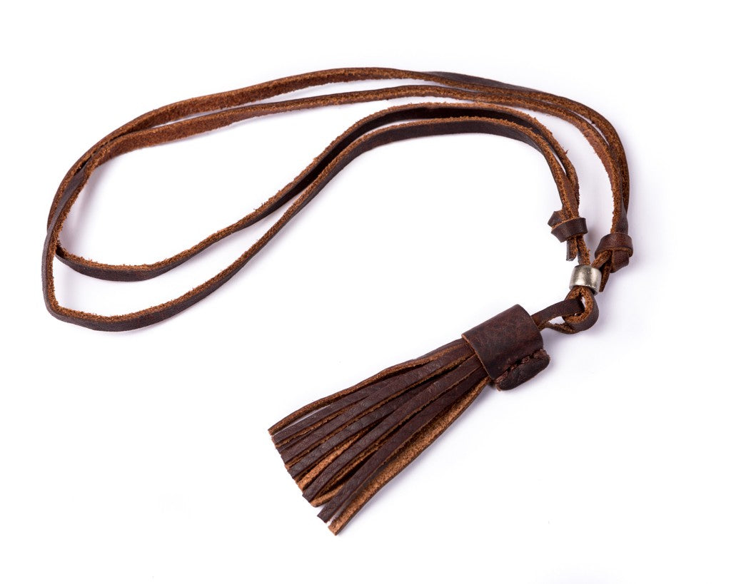 Leather Necklace - Leather Stripes