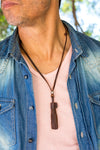 Leather Necklace - Leather Stripes - boom-ibiza