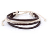 leather bracelet multistrand - white cord