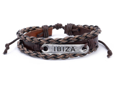 Leather Multistrand Bracelet metal Ibiza - boom-ibiza