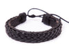 leather bracelet braided cuff - boom-ibiza