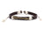 Leather Bracelet Brass arrow brown - boom-ibiza