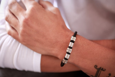 Magnetic Leather Bracelet - Madrid D - boom-ibiza