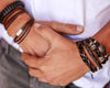 leather bracelet double knot - brown - boom-ibiza